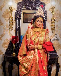 Weeding Makeup, Bengali Bride, Up Hairstyles, Wedding Bride, Marriage, Sari, Indian, Celebrities, Celebrity
