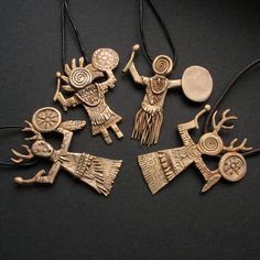Shamanic Knowledge Collection all | bronze clay - available on my Etsy shop https://www.etsy.com/shop/FiannJewelry