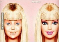 Barbie, pillada también sin maquillar...