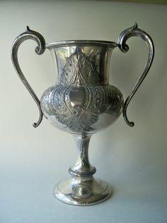 Edwardian Silver Metal Urn Trophy Vase via Etsy seller - PrattsPatch