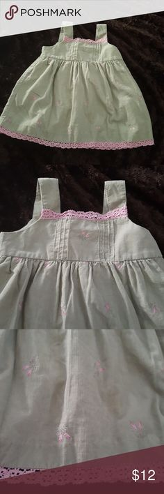 Vintage Dress Baby Girl 12 Months. Cute vintage dress for baby girls size 12 months. Color beige sleeveless with pink trim at the hem and the neck. It also has pink roses. Great condition. Smoke free home.  Feel free to ask any questions. Please check my other listings Thank you and have a great day. Dresses