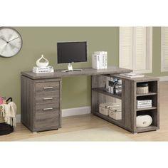 Desk layout - different finish... Monarch Specialties Inc. Corner Desk