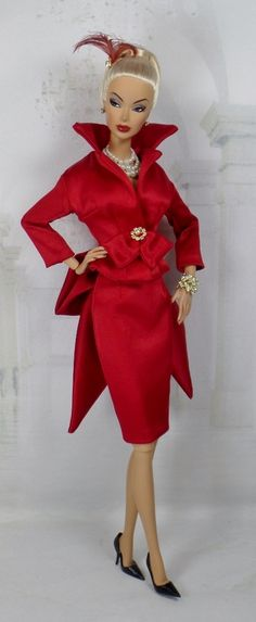 Dreaming in Red for Silkstone Barbie and Victoire Roux on Etsy