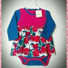 Body vestido para beba floreado Ropita para bebés Little glam girls Puro Glam kids