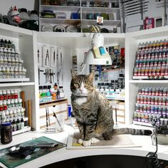 My hobby desk : Art Studio Room, Art Studio Design, Dream Art Room, Painting Station, Hobby Desk, Geek Room, Art Desk, Home Workshop, Shop Organization