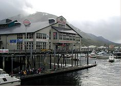 The Salmon Landing Building in Ketchikan - home to great shops!