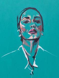 contemporary portrait by flo lee Arte Peculiar, Frida Art, Oil Pastel Art, Art Drawings Sketches, Art Sketchbook, Painting & Drawing, Acrylic Painting On Paper, Aesthetic Art, Art Inspo