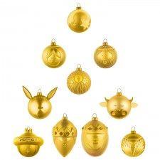Le Palle Presepe Ornament Set of 10 -Closeout