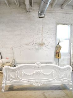 Painted Cottage Shabby French Romantic Bed Queen / King  BD746