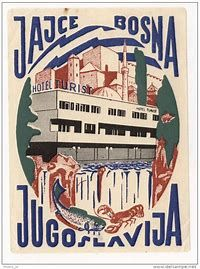 yugoslavia poster - Bing images Vintage Hotels, Vintage Ads, Hockey Posters, Tourism Poster, Hotel Logo, Luggage Labels, Railway Posters, Old Signs, Poster Pictures