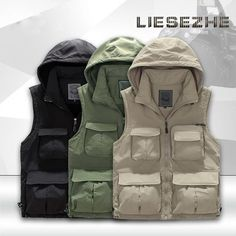 Thicken Quick-Drying Fishing Vest Multi-Pocket Photography Angler Waistcoat Customizable Team Fly Fishing Vests chaleco de pesca