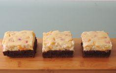 Peach cheesecake brownies