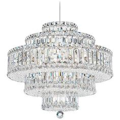 Buy the Schonbek Stainless Steel Direct. Shop for the Schonbek Stainless Steel Wide 22 Light Pendant from the Plaza Collection and save. Silver Chandelier, Pendant Chandelier, Chandelier Lighting, Crystal Chandeliers, Closet Chandelier, Crystal Lights, Chandelier Makeover, Gold Ceiling Light, Ceiling Lights