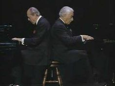 "A funny version of Chopin famous Waltz N° 6 (called ""minute waltz"") played by Victor Borge and Leonid Hambro."
