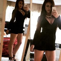 Taking the plunge: The Geordie Shore star also showed off the results of her three-stone w...