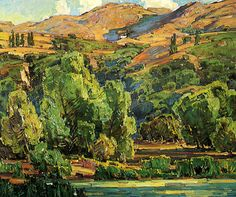 paintingbox:William Wendt (1865-1946). Creeping Shadows, 1928. Oil on canvas. 30 x 36 in