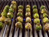 Grilled Brussels Sprouts- olive oil, garlic, dry mustard, smoked paprika, salt & pepper.