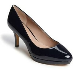 Vince Camuto 'Desti' Pump Navy 6.5 M. A diminutive platform lends elegant height to a timelessly shaped pump lacquered in patent leather. ......[$97.95]