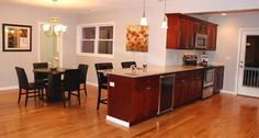 HONEY MAPLES Kitchen Vanity, Vanity Cabinet, Kitchen Redo, New Kitchen, Kitchen Cabinets, Honey, Table, Furniture, Home Decor