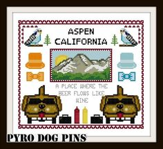 Aspen California /PDF  Dumb and Dumber Cross Stitch by PyroDogPins, £3.00