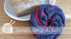 Tawashi, éponge au tricot par Alice Gerfault