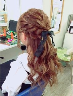 ココビーサロン 銀座店(COCO-b-salon) ルーズハーフアップ Kawaii Hairstyles, Pretty Hairstyles, Braided Hairstyles, Coiffure Hair, Aesthetic Hair, Grunge Hair, Hair Dos, Hair Designs, Hair Hacks