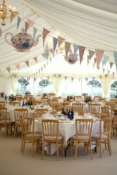 English Country Garden in Marquee