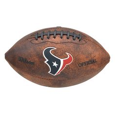 This Wilson NFL Houston Texans 9-inch Football is made of composite leather and…