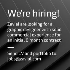 We're hiring! Zavial are looking for a graphic designer with solid commercial experience for an initial 6 month contract. Send CV and portfolio to jobs@zavial.com #graphicdesign #job #somerset #designer #recruitment