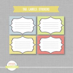 Label sticker tag template Print your own Modern by PrintSmitten