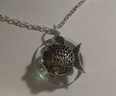 Pearl Fish Swivel Magnifying Glass Pendant Necklace | jenstarr - Jewelry on ArtFire