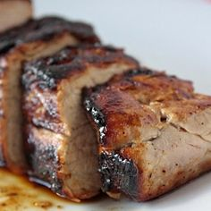 Honey butter glazed pork tenderloin