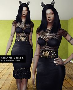 FS Ariani Dress by Missfortune Sims for The Sims 4