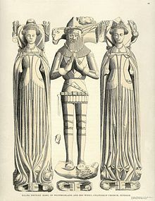 Elizabeth de Berkeley, Countess of Warwick 1385 | Effigy of Ralph Neville, 1st Earl of Westmorland and his two wives ...