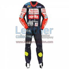 Valentino Rossi Aprilia GP 1997 Suit for $629.30 - https://www.leathercollection.com/en-we/valentino-rossi-aprilia-1997-suit.html