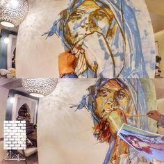 "55 Likes, 1 Comments - حيطان (@heytan.art) on Instagram: ""Coming to life! #Egypt #Art #Murals #Decor #Painting #contemporaryart"""