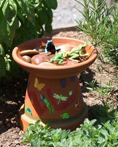 Easy Kid Craft - Bird Bath or Bird Feeder