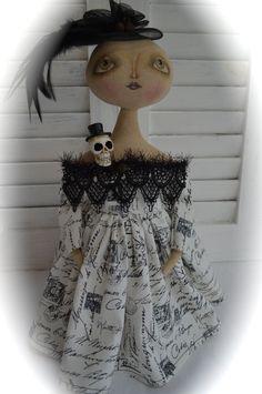 Primitive Folk Art Halloween Witch Doll ~Cheese Creek Primitives~ #NaivePrimitive #CheeseCreekPrimitivesakaCheeseCreekStudio