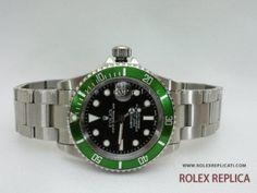 Rolex Submariner Date Replica Ghiera Verde in Ceramica Swiss Eta 81a987e9eaf