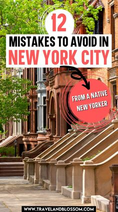 Planning a trip to New York City for the first time? Here are 12 Common Mistakes to Avoid in NYC as a tourist! New York Travel Guide | New York State Travel | NYC Attractions | NYC Tourist Attractions | New york travel tips | nyc travel tips | new york travel tips first time | new york for first timers | #nyctravel #nycguide #newyorktraveltipsfirsttime #newyorkcityforfirsttimers via @travelandblossom New York Travel Guide, New York City Travel, Travel Tips, Nyc Tourist Attractions, Cool Places To Visit, Places To Go, Nyc Itinerary, York Things To Do, Visit New York City