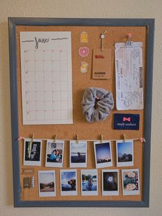 ahhh so glad I did this✔️😌 - - {painted an old cork board and made my own kind of personal board} Cork Board Ideas For Bedroom, Room Ideas Bedroom, Bedroom Decor, Bed Room, Bedroom Wall, Cute Room Ideas, Cute Room Decor, Cute Ideas, Deco Cool
