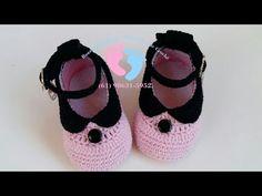 Crochet ideas that you'll love Crochet Baby Sandals, Crochet Shoes, Crochet Baby Booties, Crochet Slippers, Knitted Baby, Crochet Dolls, Baby Booties Free Pattern, Baby Shoes Pattern, Baby Boy Shoes