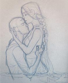 soiled by queenofthecute.tu kataang by queenofthecute.tu… kataang by queenofthecute. Drawing Sketches, Art Drawings, Figure Sketching, Poses References, Drawing Practice, Human Figure Drawing, Art Poses, Drawing Reference Poses, Couple Drawings