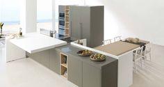 Muebles de cocina. G-680 acabado Roble Verde Caqui / Roble Nature. GAMADECOR.