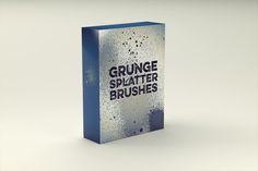 Grunge Splatter Brushes by Tugcu Design Co. on @creativemarket