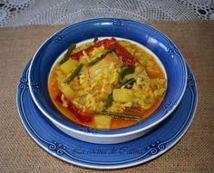 Ensalada Caprese, Spanish Food, Spanish Recipes, Thai Red Curry, Rice, Cooking, Ethnic Recipes, Ideas, Rice Bowls