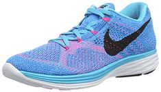 Nike Womens Flyknit Lunar3 Running Shoe 8 BM US Gamma BluePhoto BlueWhite Black *** Check out this great product.