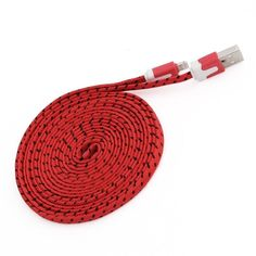 2M 6FT RED Braided Micro USB Cable Charger for Samsung S2 S3 S4 NOTE 2 3 SONY #AyannasWholesale