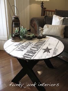 Funky Junk Interiors: How to make a table top sign with a story