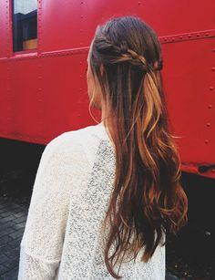 Long Hair Women's Styles : 20 Cute French Braid Hairstyles to Up Your Weekend Hair Game - Fashion Inspire Daily Hairstyles, French Braid Hairstyles, Romantic Hairstyles, Easy Hairstyles For Long Hair, Down Hairstyles, French Braids, Glamorous Hairstyles, Dutch Braids, Hair Styles 2016